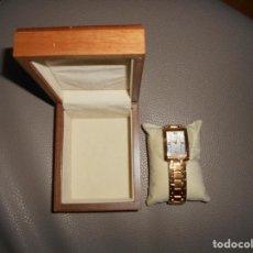 Relojes: RELOJ CABALLERO HOMBRE MX ONDA WATCH AÑOS 90 CHAPADO ORO DE CUARZO 25 AÑOS FORUM FILATELICO CAJA ETC. Lote 114349727