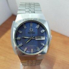 Relojes: RELOJ CABALLERO (VINTAGE) AUTOMÁTICO TITUS CON DOBLE CALENDARIO A LAS TRES HORAS, CORREA DE ACERO. Lote 114335239