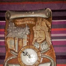 Relojes: DRACULA ROMANIA TRANSILVANIA RELOJ DE PARED 26X20 CMS RAREZA. Lote 114648867