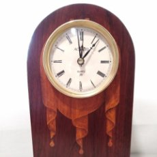 Relojes: RELOJ DE SOBREMESA DE LA FIRMA ACANTO CON MARQUETERÍA. Lote 114681923