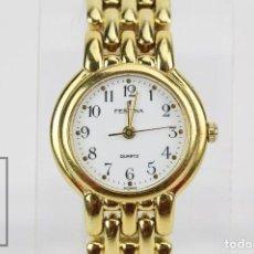 Relojes: RELOJ DE PULSERA PARA MUJER - FESTINA - QUARTZ / CUARZO - CORREA DE ESLABONES DORADA. Lote 164661462