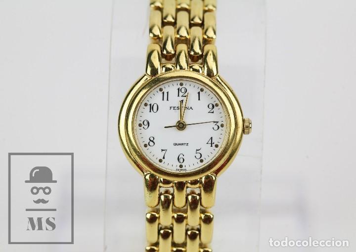 Relojes: Reloj de Pulsera para Mujer - Festina - Quartz / Cuarzo - Correa de Eslabones Dorada - Foto 3 - 164661462