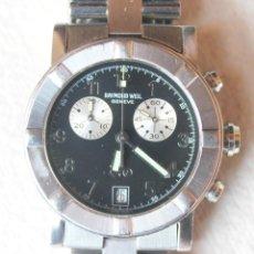 Relojes: RELOJ RAYMOND WEIL, GENEVE. DE ACERO. CRISTAL MINERAL. PILAS. CRONOMETRO,. Lote 115619995