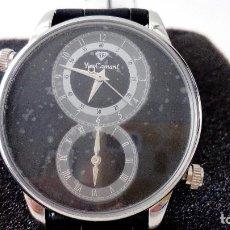 Relojes: RELOJ DOS HORARIOS YVES CAMANI YC1055-B MODELO LOISON NUEVO. Lote 116773987