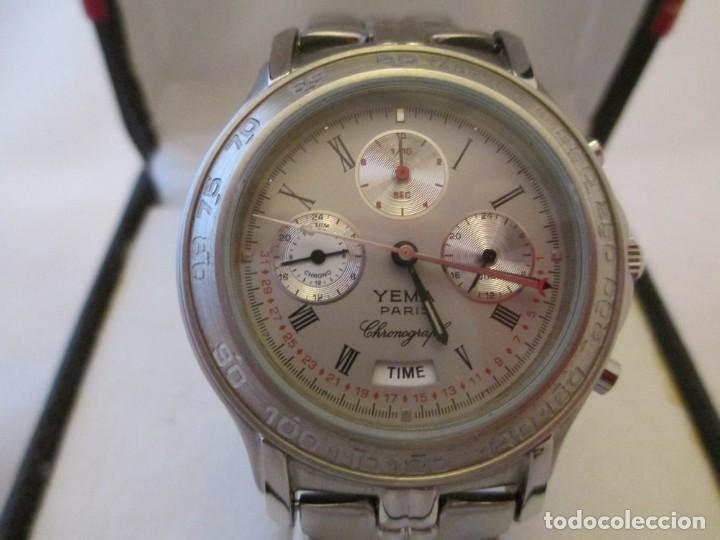 EXTRAORDINARIO CRONO YEMA PARIS 100M CABALLERO NOS (Relojes - Relojes Actuales - Otros)