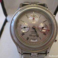 Relojes: EXTRAORDINARIO CRONO YEMA PARIS 100M CABALLERO NOS. Lote 117102787