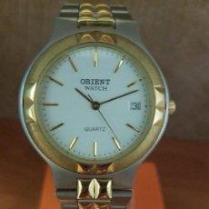 Relojes: RELOJ CABALLERO DE CUARZO ORIENT BICOLOR CON CALENDARIO A LAS TRES Y CORREA ACERO BICOLOR ORIGINAL. Lote 117153419