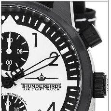 Relojes: BONITO RELOJ DE PILOTO CON MOVIMIENTO MULTI CRONO SEIKO ESTILO MILITAR MARCA THUNDERBIRDS AIR CRAFT. Lote 112974734