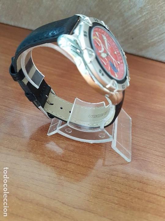 Relojes: Reloj caballero ORIENT cuarzo de acero cronografo, calendario a las tres, correa de cuero negra - Foto 7 - 117352387