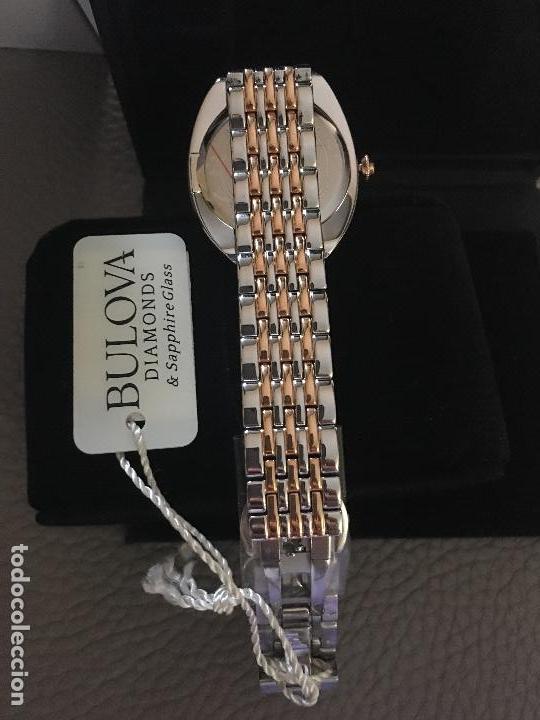 Relojes: RELOJ SEÑORA MARCA BULOVA DIAMONDS 98R230 NUEVO EN CAJA - Foto 2 - 117400747