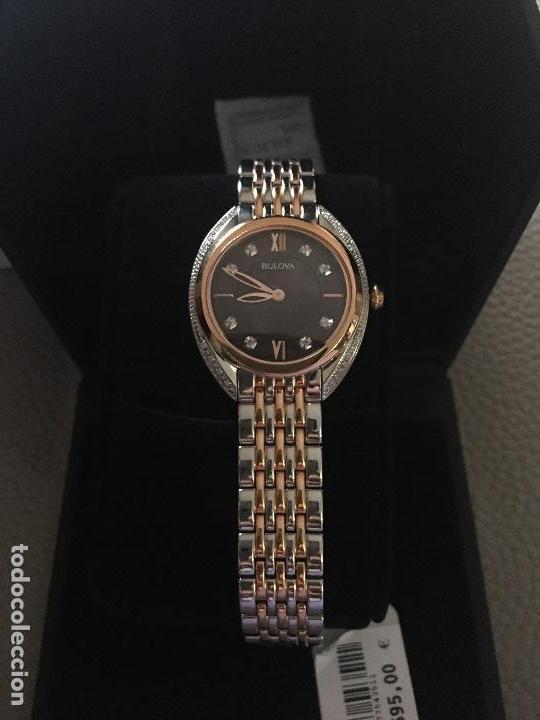 Relojes: RELOJ SEÑORA MARCA BULOVA DIAMONDS 98R230 NUEVO EN CAJA - Foto 4 - 117400747