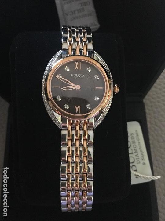 RELOJ SEÑORA MARCA BULOVA DIAMONDS 98R230 NUEVO EN CAJA (Relojes - Relojes Actuales - Otros)