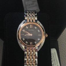 Relojes: RELOJ SEÑORA MARCA BULOVA DIAMONDS 98R230 NUEVO EN CAJA. Lote 117400747