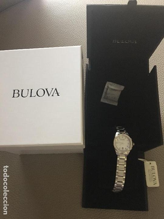 Relojes: RELOJ SEÑORA MARCA BULOVA DIAMONDS 96W205 NUEVO EN CAJA FUNCIONANDO - Foto 4 - 117402019