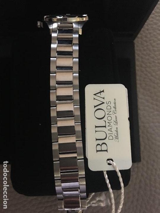 Relojes: RELOJ SEÑORA MARCA BULOVA DIAMONDS 96W205 NUEVO EN CAJA FUNCIONANDO - Foto 2 - 117402019