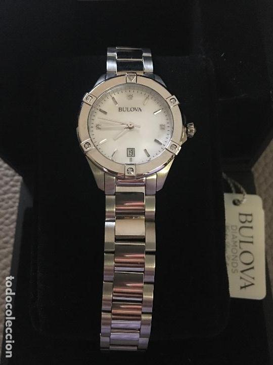RELOJ SEÑORA MARCA BULOVA DIAMONDS 96W205 NUEVO EN CAJA FUNCIONANDO (Relojes - Relojes Actuales - Otros)