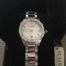 Relojes: RELOJ SEÑORA MARCA BULOVA DIAMONDS 96W205 NUEVO EN CAJA FUNCIONANDO. Lote 117402019