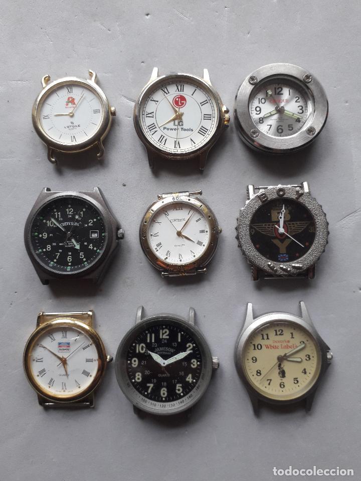 LOTE DE 9 RELOJES PUBLICIDAD. QUARTZ DE CABALLERO. (Relojes - Relojes Actuales - Otros)