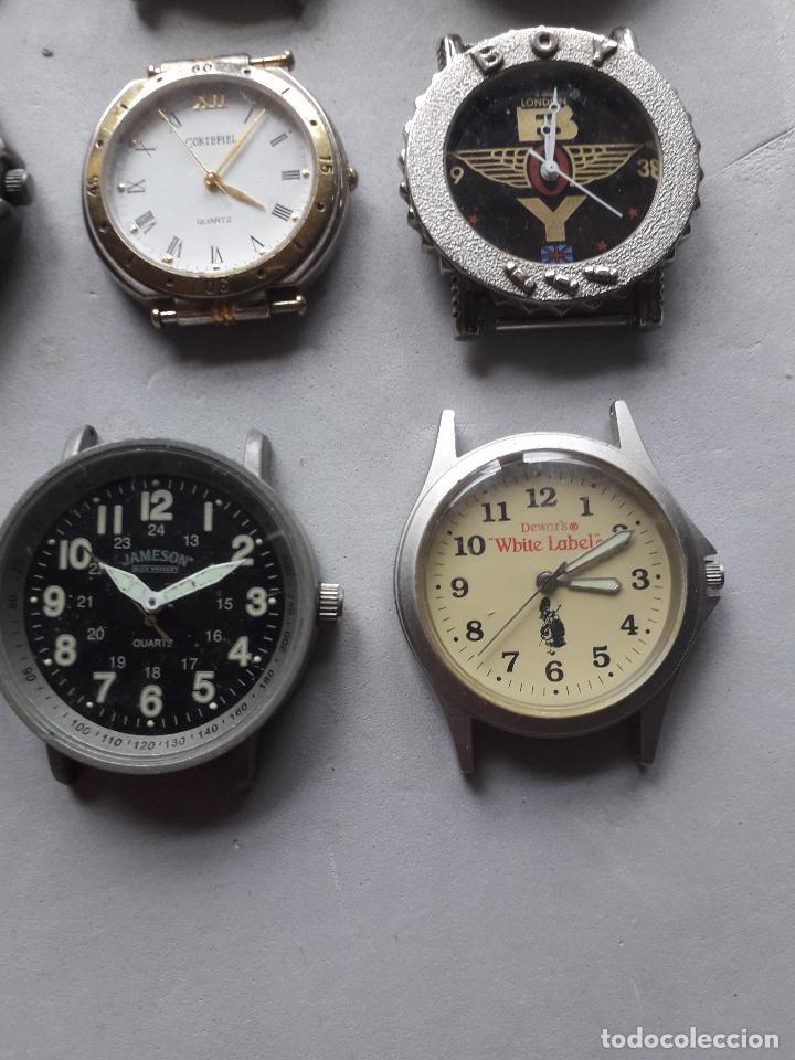Relojes: Lote de 9 relojes Publicidad. Quartz de caballero. - Foto 2 - 118055283