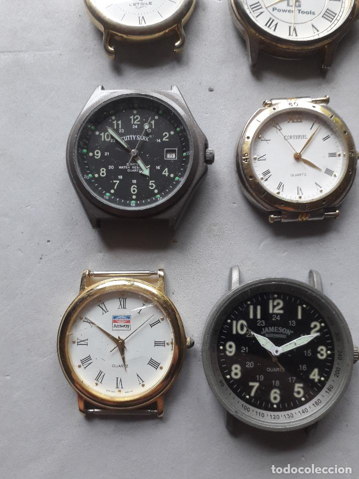 Relojes: Lote de 9 relojes Publicidad. Quartz de caballero. - Foto 3 - 118055283