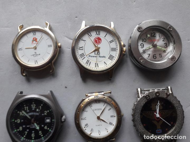 Relojes: Lote de 9 relojes Publicidad. Quartz de caballero. - Foto 4 - 118055283