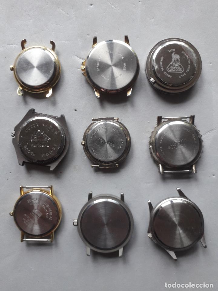 Relojes: Lote de 9 relojes Publicidad. Quartz de caballero. - Foto 5 - 118055283