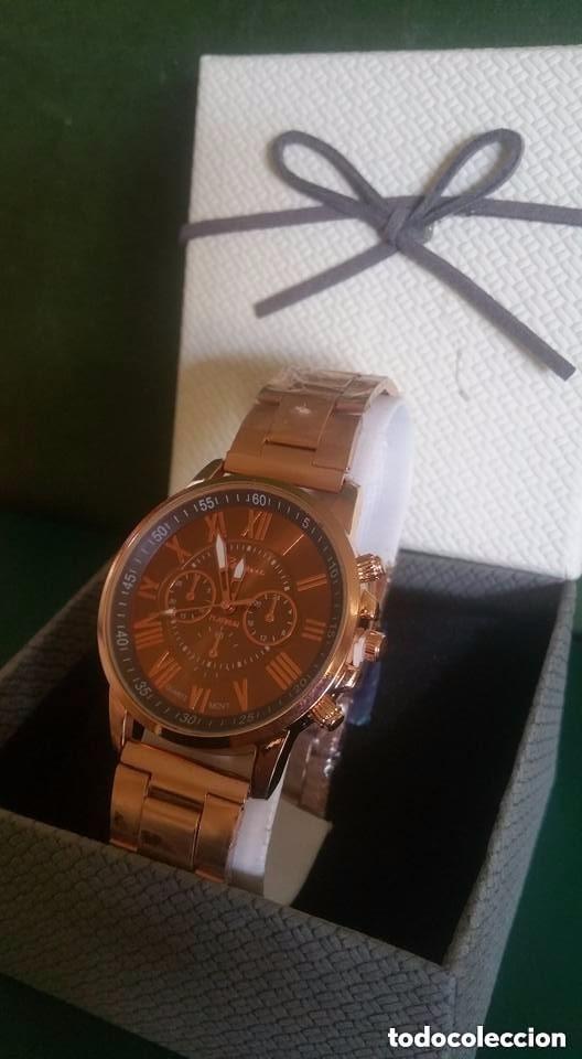 Relojes: Reloj de Pulsera / Unisex / Acero inoxidable / COLOR ORO ENVEJECIDO - Foto 2 - 183482487