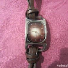 Relojes: RELOJ SEÑORA ESFERA MARRON CON CORREA PIEL MARRON. Lote 118916359