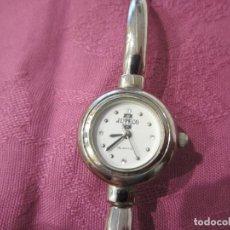 Relojes: RELOJ SEÑORA ACERO, CAJA REDONDA Y PULSERA PLATEADAS. Lote 118916835