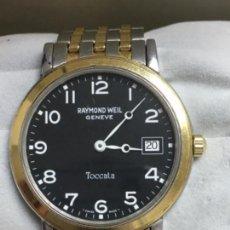 Relojes: RELOJ RAYMON WEIL GENEVE EN ACERO COMPLETO Y CHAPADO ORO EN FUNCIONAMIENTO. Lote 143046337