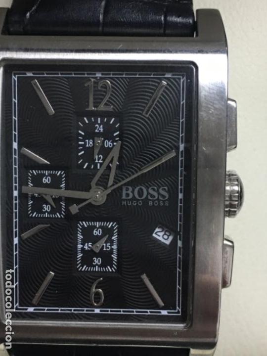 f8ceeee7570e Relojes  Reloj Hugo boss chronograph en acero y correa de piel como nuevo -  Foto