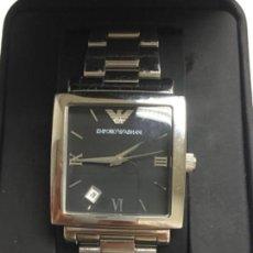 Relojes: RELOJ EMPORIO ARMANI EN ACERO COMPLETO CUADRADO CON DIAL EN FUNCIONAMIENTO Y SU CAJA. Lote 119266123