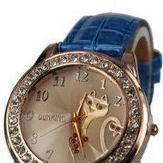 Relojes: RELOJ GATO (COLOR AZUL). Lote 119400195
