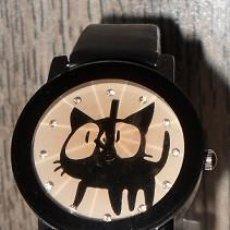 Relojes: RELOJ GATO (NEGRO). Lote 119400671