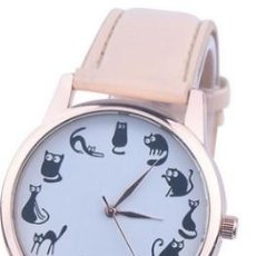 Relojes: RELOJ GATO GATOS (MODEL 2) (COLOR ROSA). Lote 119401079