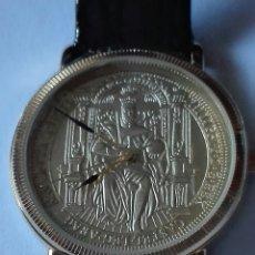 Relojes: RELOJ SELLO AUREO DE FELIPE II.CHAPADO ORO.NUEVO EN SU ESTUCHE. Lote 120011567