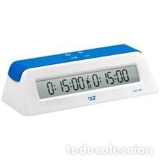 Relojes: CHESS. RELOJ DIGITAL DE AJEDREZ DGT 1001 BLANCO/AZUL. Lote 120488479