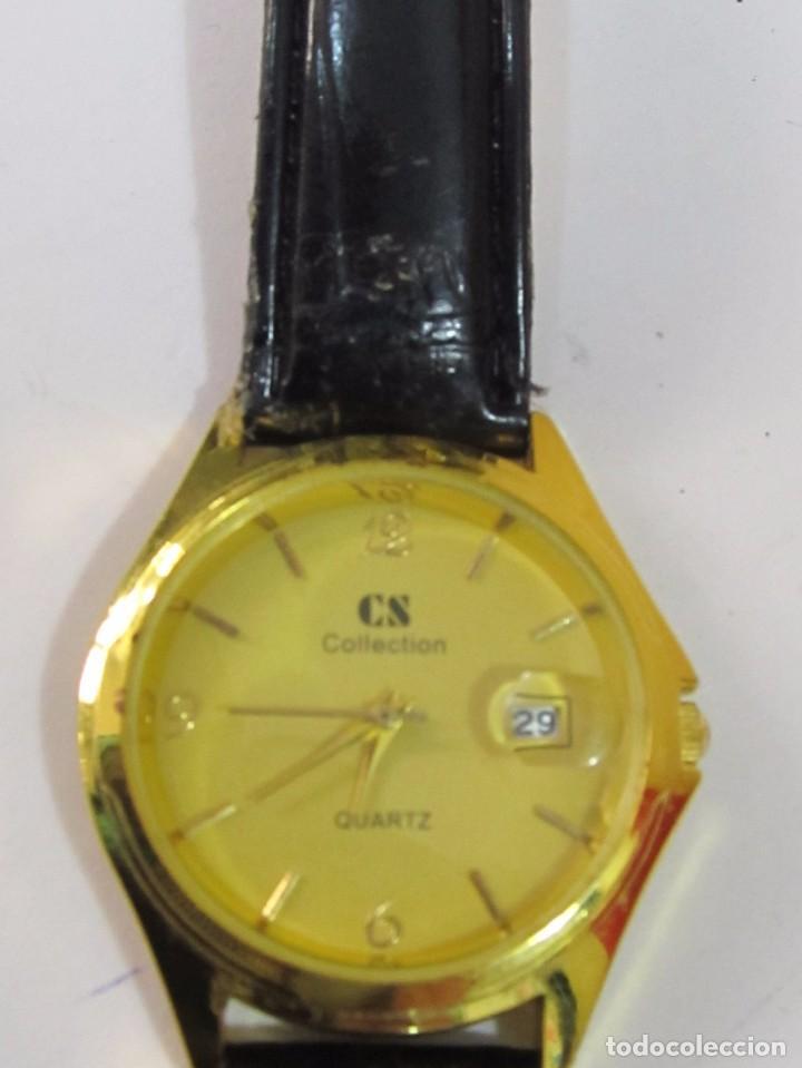 RELOJ CS COLLECTION DE CUARZO, CHAPADO EN ORO (Relojes - Relojes Actuales - Otros)