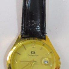 Relojes: RELOJ CS COLLECTION DE CUARZO, CHAPADO EN ORO. Lote 120828207