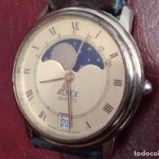 Relojes: RELOJ (ALFEX. CUARTZ) SWISS MADE. FACE LUNAR. NO. FUNCIONA. FALTA PILA Y REVISIÓN.. Lote 120899695
