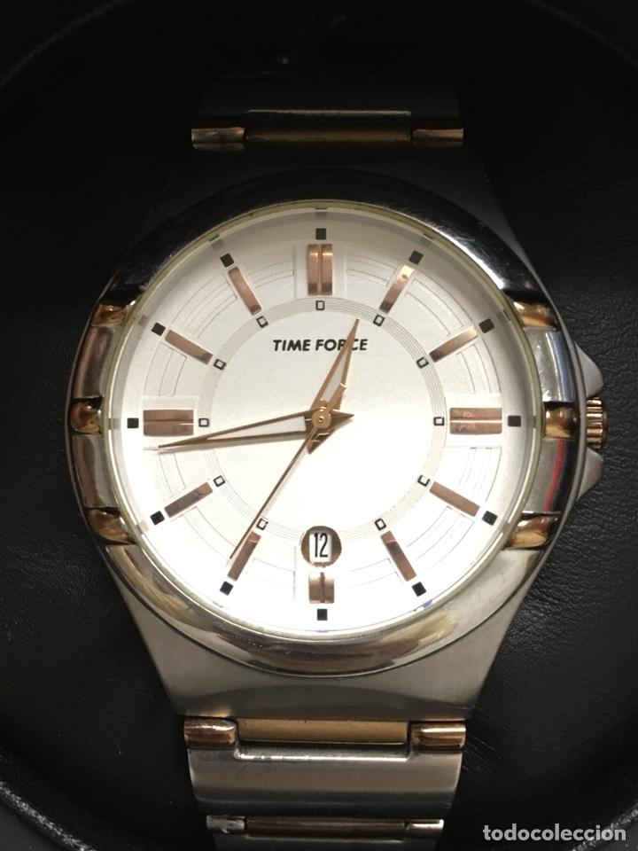 RELOJ TIME FORCÉ TF4072M EN ACERO COMPLETO EN SU CAJA BUENA CONSERVACIÓN (Relojes - Relojes Actuales - Otros)