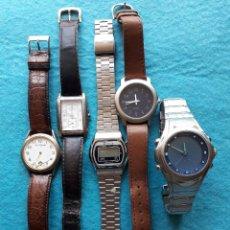 Relojes: LOTE DE 5 RELOJES DE CUARZO PARA CABALLERO.. Lote 121343091