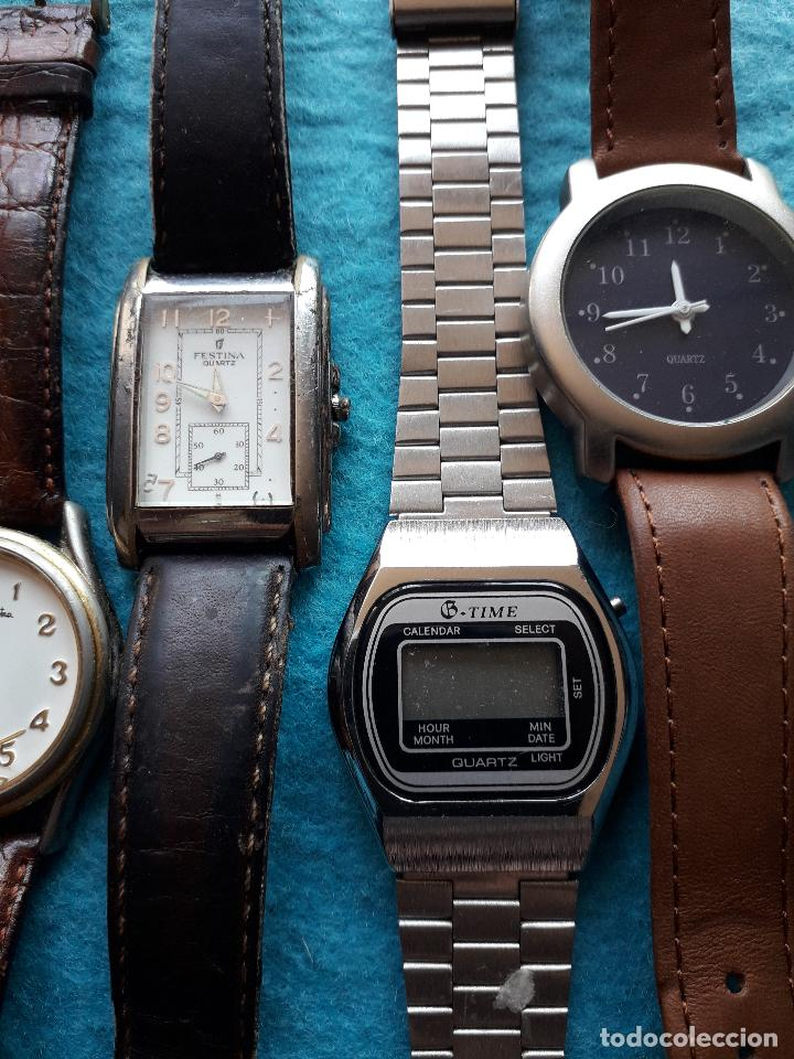 Relojes: Lote de 5 Relojes de cuarzo para Caballero. - Foto 3 - 121343091