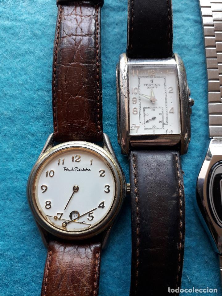 Relojes: Lote de 5 Relojes de cuarzo para Caballero. - Foto 4 - 121343091