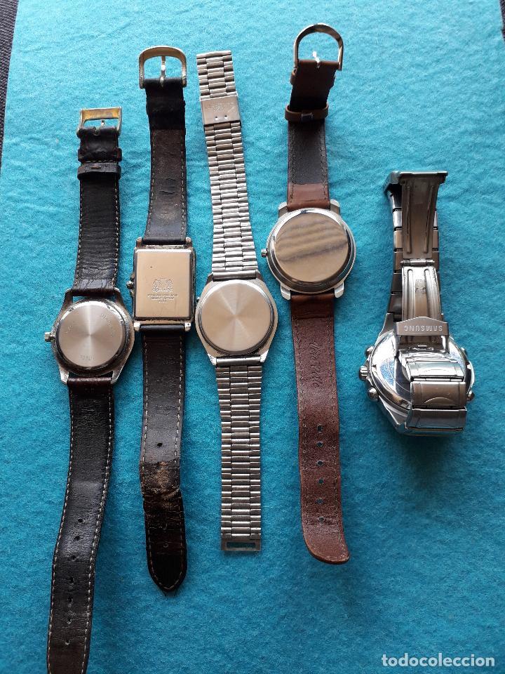 Relojes: Lote de 5 Relojes de cuarzo para Caballero. - Foto 5 - 121343091