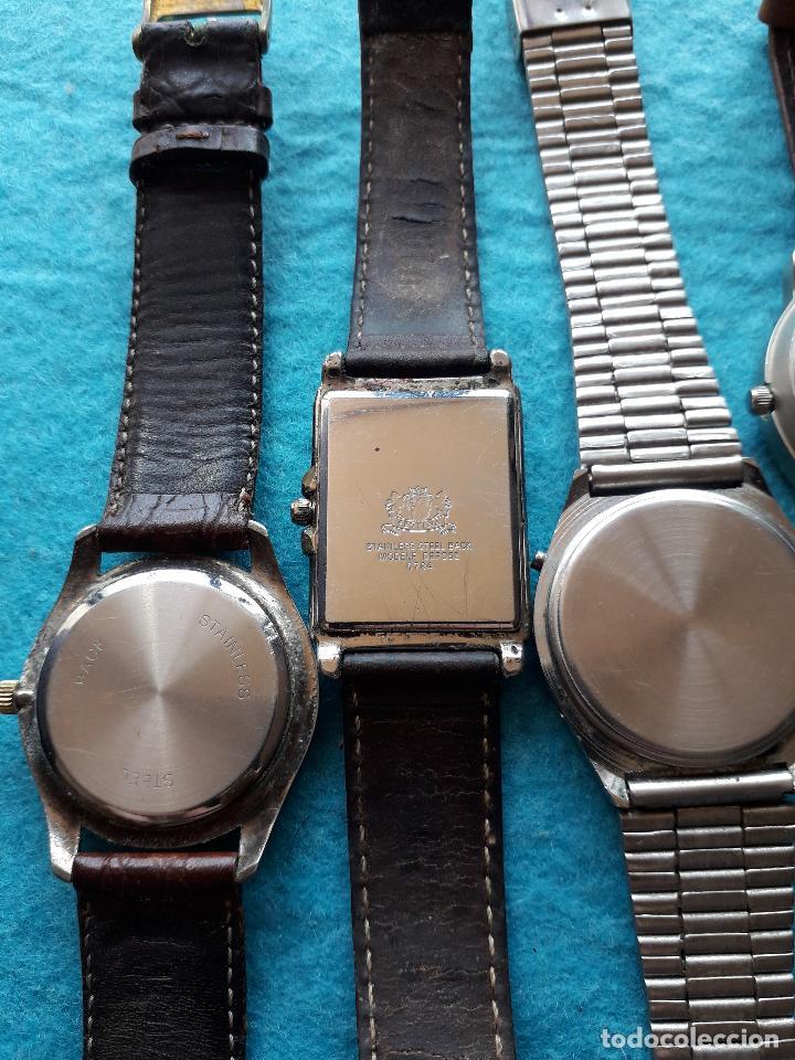 Relojes: Lote de 5 Relojes de cuarzo para Caballero. - Foto 6 - 121343091