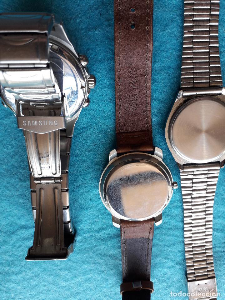Relojes: Lote de 5 Relojes de cuarzo para Caballero. - Foto 7 - 121343091