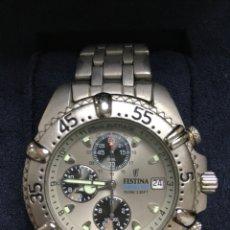 Relojes: RELOJ FESTINA CHRONOGRAPH BIKE 100M 330FT EN ACERO MATE. Lote 121389583
