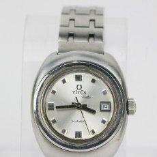 Relojes: RELOJ PULSERA AUTOMÁTICO TITUS MATIC DE MUJER - 21 JEWELS / CALENDARIO - CORREA ESLABONES - FUNCIONA. Lote 121995003