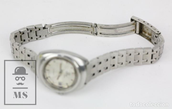 Relojes: Reloj Pulsera Automático Titus Matic de Mujer - 21 Jewels / Calendario - Correa Eslabones - Funciona - Foto 3 - 121995003